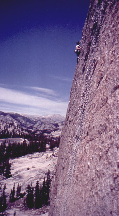 Knobvious, 5.10d, East Cottage Dome, Tuolumne Meadows, Yosemite, CA