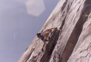 David Rubine on the first ascent of Golden Years, Yosemite, CA